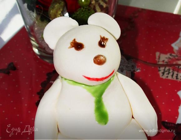 Белый медвежонок для Оксаны!