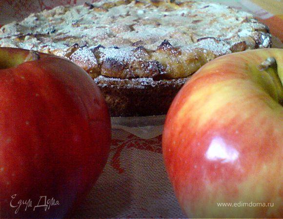 Фар с черносливом и яблоком