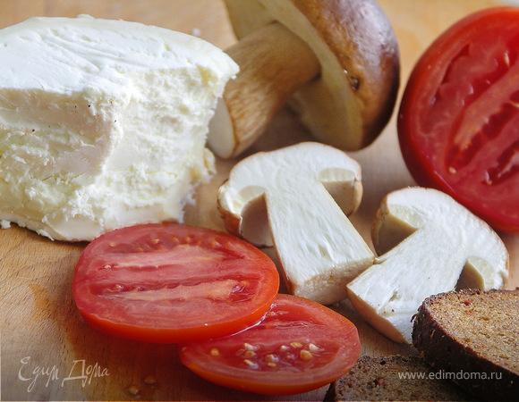 Бутерброд с белым грибом