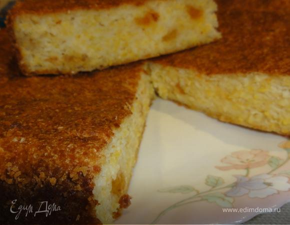 АЛЕВИНЧ (творожно - кукурузная запеканка со сметаной и тертой земляникой с сахаром)