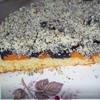 Пирог творожный с абрикосово-маковой начинкой