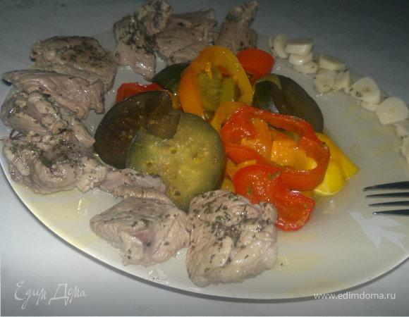 Баранина Кариба-Тропикана и индийские овощи