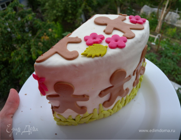 Тортик на ДР (с кремом ганаш)
