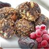 Конфеты из фиников, чернослива, калины и орехов