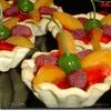 Корзиночки «Фрукты в малиновом желе»