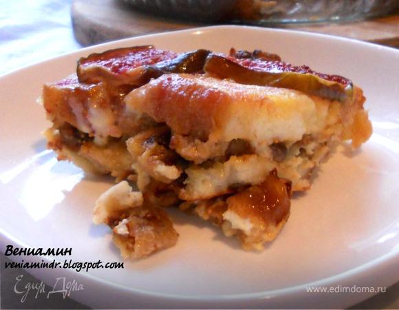 Хлебный пудинг с инжиром и медом