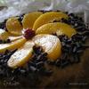 Греческий торт с персиками