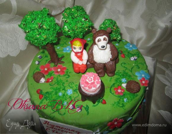 торт маша и медведь пошаговый рецепт с фото