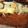 Быстрый шоколадно-миндальный пирог