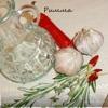Оливковое масло с травами, перцем чили и чесноком.