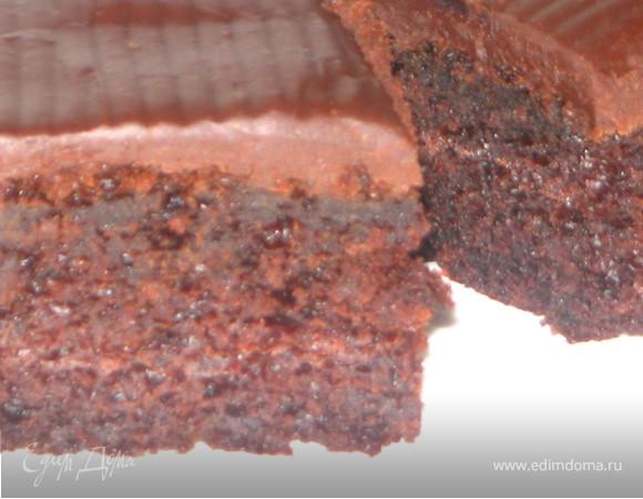 Шоколадно-банановый пирог для любимой сестренки
