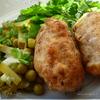 Отбивная котлета с начинкой из омлетных блинчиков и козьего сыра(свиная)