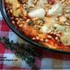 Каннелони из блинчиков с лососем, рикоттой и кедровыми орехами
