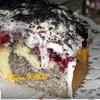 Маковый пирог с вишней (Mohnkuchen mit Sauerkirschen)