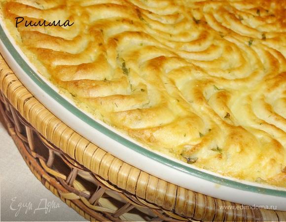 Картофельная запеканка с мясной начинкой