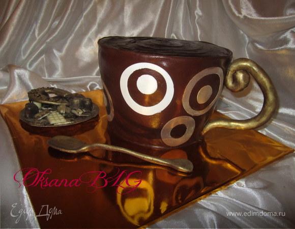 """Торт """"Кружечка кофе или горячего шоколада"""""""