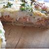 Пирог с лососем и сыром