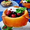 Блинчики десертные с сырным кремом и ягодами