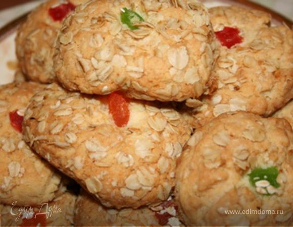 Овсяное печенье с цукатами