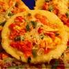 Овощная мини-пицца на кукурузном тесте