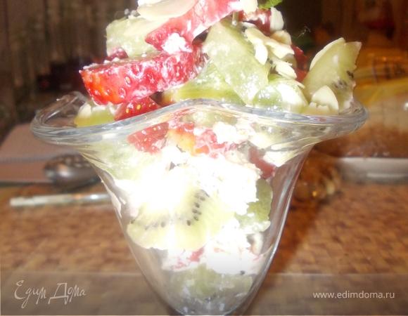 Фруктовый салатик с маскарпоне
