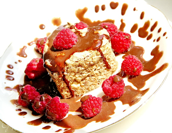 Миндально-кунжутные пирожные с мятой