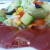 Лёгкий салат в кольце