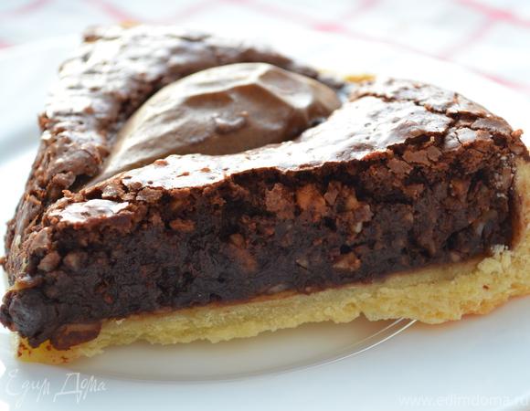 Шоколадно-грушевый тарт от Д.Оливера