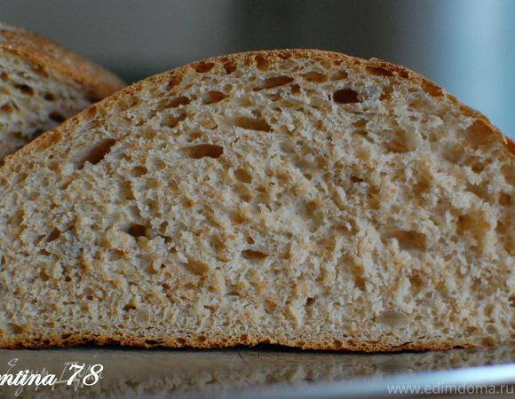 Селянский хлеб на ряженке с семенами подсолнуха