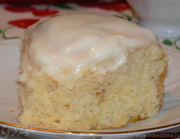 Творожный пирог с курагой и творожной глазурью