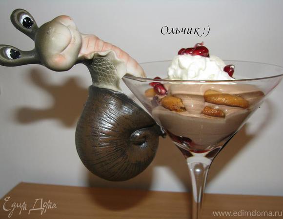 Шоколадно-клюквенный трайфл