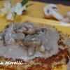 Мясо по-гоголевски с блинами-дерунами