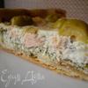 Тарт с рыбой и творожным сыром
