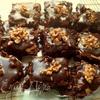 Шоколадные кубики с грецким орехом и миндалем