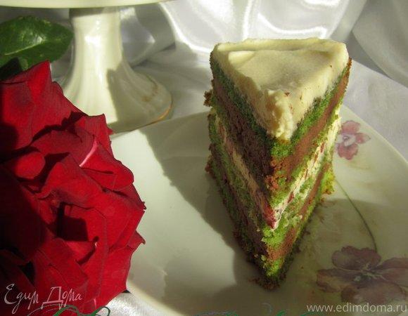 """Торт """"Шоколадно-мятный поцелуй"""""""