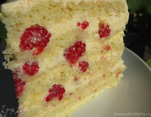 Торт малиновая девочка