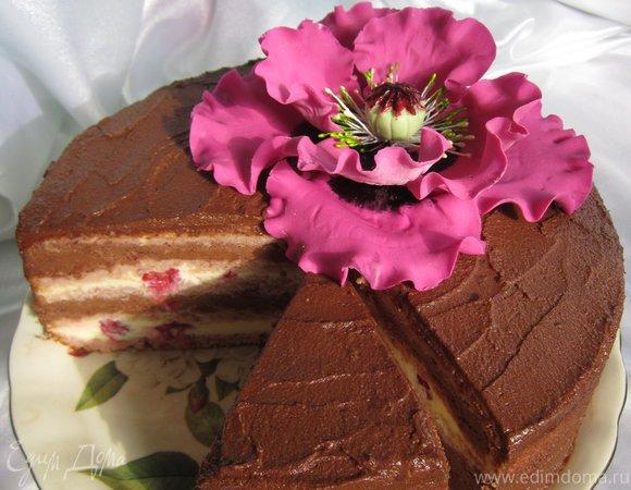 """Торт """" Малиновый трюфель"""""""