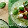 Огуречно-кабачковый холодный суп с моцареллой