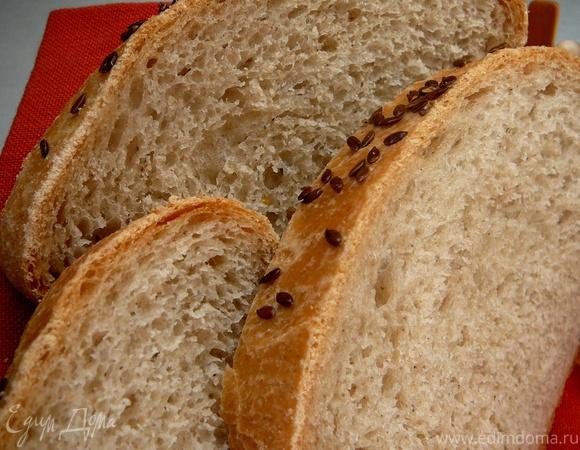 Хлеб пшенично-ячменный с семенем льна и кунжутом
