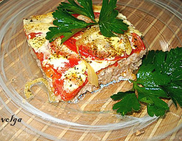 Мясная запеканка с помидорами