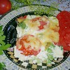 Запеканка с брокколи, сыром и помидорами