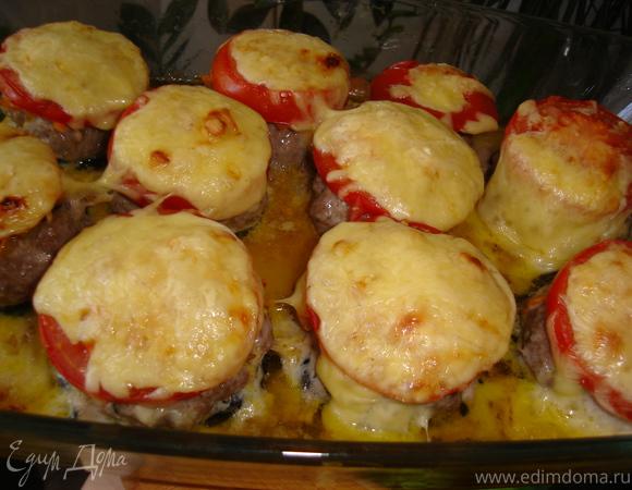 Мясные пенечки с цукини и сыром