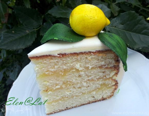 """Торт """"Лимонный"""" и МК по украшению"""