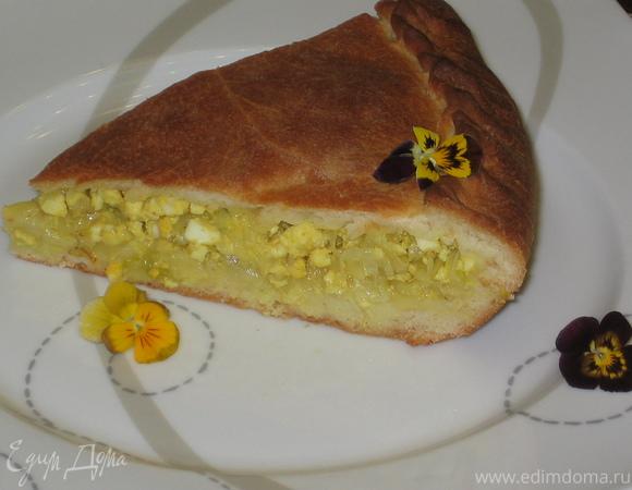 Капустный пирог с шафраном