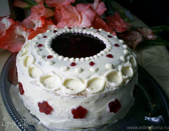 """Бисквитный торт """"Вишневый соблазн"""""""