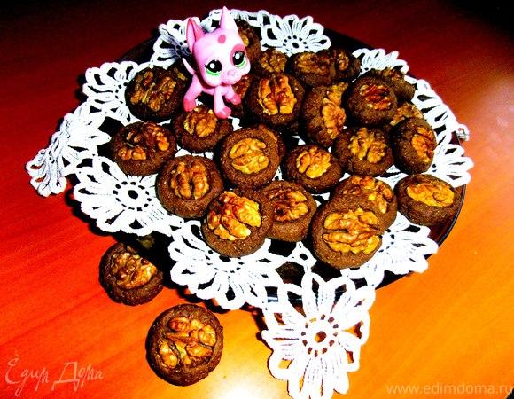 """Шоколадное печенье """"Орешек"""""""