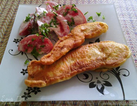 Куриная грудка в кляре (маринованная в бальзамическом уксусе)