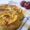 Творожная улитка с яблоками и карамелью