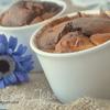 Горячий творожный десерт с маком и фруктами