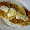 Оладьи на кефире с лимонным кремом